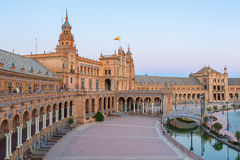 Espana Plaza Seville Spain Royalty Free Stock Image