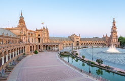 Espana Plaza Seville Spain Royalty Free Stock Photography