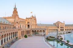 Espana Plaza Seville Spain Stock Photography