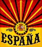 Espana - texto espanhol da Espanha - cartão do vintage Fotografia de Stock Royalty Free