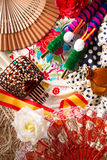 Espana typical from Spain with castanets rose flamenco fan Stock Photography