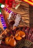 Espana typique d'Espagne avec des éléments de flamenco de castagnettes Image libre de droits