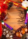 Espana typique d'Espagne avec des éléments de flamenco de castagnettes Photos stock
