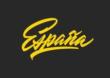 Espanaborstel het van letters voorzien royalty-vrije stock foto