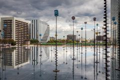 Espanade de La Defence Royalty Free Stock Photography