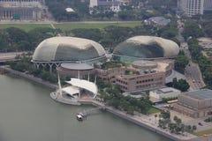 Espanade ou théâtres sur la baie, arts du spectacle de Singapour TSV Photographie stock libre de droits