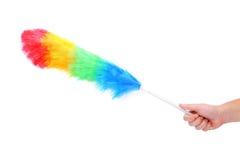 Espanador colorido macio com punho plástico Imagem de Stock Royalty Free