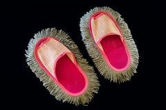Espanadores cor-de-rosa da sandália foto de stock