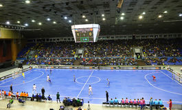 Espanha amigável de Ucrânia v do fósforo de Futsal Fotos de Stock