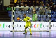 Espanha amigável de Ucrânia v do fósforo de Futsal Fotos de Stock Royalty Free