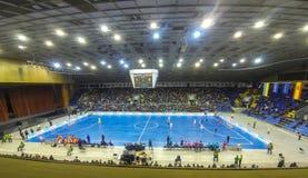 Espanha amigável de Ucrânia v do fósforo de Futsal Imagem de Stock