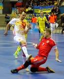 Espanha amigável de Ucrânia v do fósforo de Futsal Imagem de Stock Royalty Free