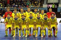 Espanha amigável de Ucrânia v do fósforo de Futsal Imagens de Stock
