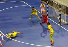 Espanha amigável de Ucrânia v do fósforo de Futsal Fotografia de Stock Royalty Free