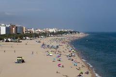 Espanha, Calella. Mediterrâneo Fotografia de Stock