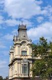 Espanha. Construção da autoridade portuária de Barcelona. Feche acima em um dia ensolarado fotos de stock royalty free