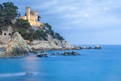 Espanha, Costa Brava, Lloret de Mar, Castell Sant Joana fotografia de stock royalty free