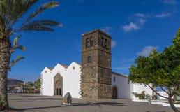 Espanha das ilhas de Oliva Fuerteventura Las Palmas Canary do La da igreja Imagens de Stock Royalty Free