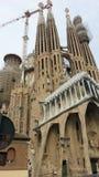 Espanha de Barcelona da igreja de Sagrada Familia Fotografia de Stock Royalty Free