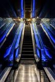 Espanha de Barcelona, escada rolante do aquário, aquário foto de stock royalty free
