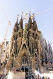 ESPANHA de BARCELONA - 9 de fevereiro de 2017: Igreja, basílica em Barcelona Foto de Stock