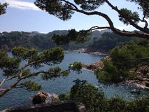 Espanha de Begur da praia da baía Fotografia de Stock Royalty Free