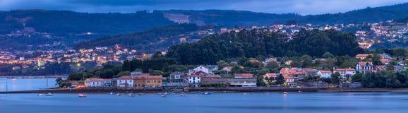 Espanha de Galiza do panorama de O Seixo Mugardos fotografia de stock