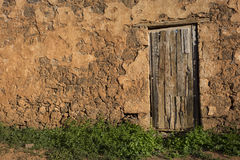 Espanha de madeira rústica velha das ilhas de Oliva Fuerteventura Las Palmas Canary do La da porta Fotografia de Stock
