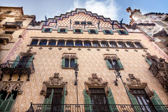 Espanha de Mila Antoni Gaudi House Museum Barcelona Catalonia da casa Fotos de Stock Royalty Free