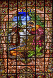 Espanha de Peter Denial Basilica Collegiata Madrid do vitral foto de stock