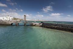 Espanha de Puente de las Bolas Arrecife fotografia de stock