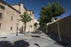 Espanha de Salamanca: Convento de la Anunciacion, igreja histórica Imagem de Stock