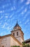 Espanha de Santa Maria Church Alhambra Granada Andalusia imagem de stock royalty free