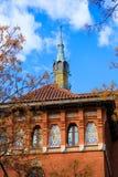 Espanha do detalhe da torre do mercado de Valencia Mercado Central Foto de Stock Royalty Free