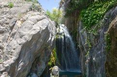 Espanha do verão da cachoeira imagens de stock royalty free