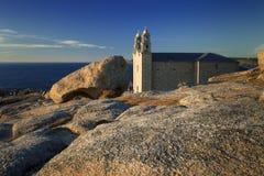Espanha, Galiza, Muxia, santuário de Barca do la de Virxe de Fotografia de Stock