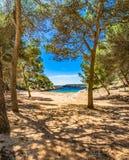 Espanha Majorca Cala Barca Imagem de Stock Royalty Free