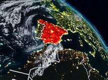 Espanha na noite ilustração stock