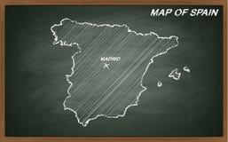 Espanha no quadro-negro Fotos de Stock