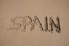 Espanha no texto na terra Imagens de Stock