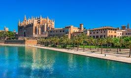 Espanha Palma de Majorca Cathedral Imagens de Stock