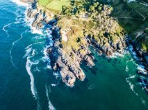 Espanha Vanlife da rocha do recife de Sonabia fotografia de stock royalty free