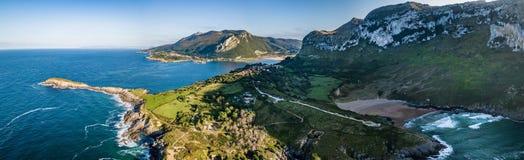 Espanha Vanlife do panorama de Sonabia fotos de stock