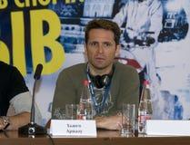 Hugo Ariazu em uma conferência da imprensa sobre o festival de esportes extremos   Fotografia de Stock