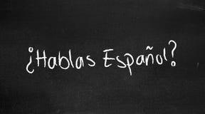 Espanol de Hablas ? Images stock