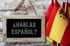 Espanol de hablas de question ? parlez-vous espagnol ? Images stock