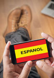 ESPANOL   Learn spanish Education and Habla Espanol , Asking Do Royalty Free Stock Images