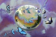 Espansione della farfalla Fotografia Stock