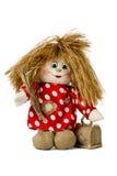 Espantajo de hadas de la muñeca en camisa con los lunares Fotografía de archivo libre de regalías