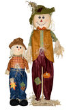 Espantalhos do pai e da criança. Imagens de Stock